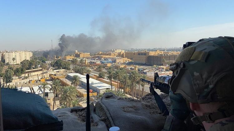 Baghdad US embassy attacked
