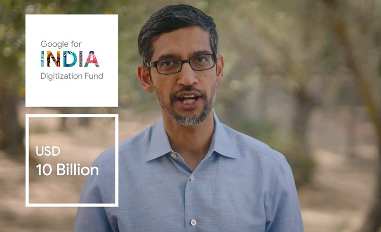 Google CEO Sundar Pichai announces investment of Rs 75,000 cr in India