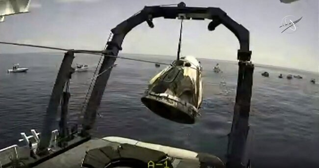 SpaceX Crew Dragon Safely Splash Down in the gulf of Mexico